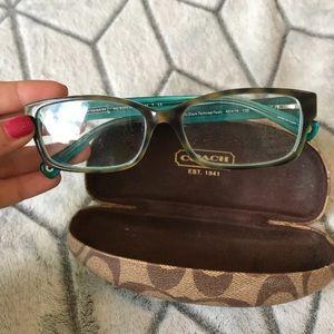 Coach teal tortoise women's eye glasses